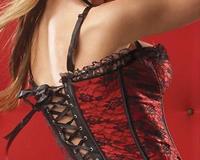 Red Satin Corset at AdamandEve.com