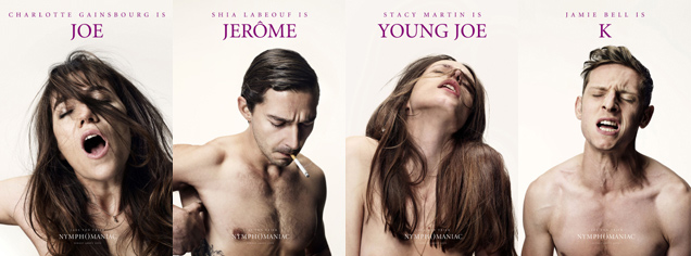 lars von trier, shia laBeouf, women cumming, fifty shades of grey, nymphomaniac poster